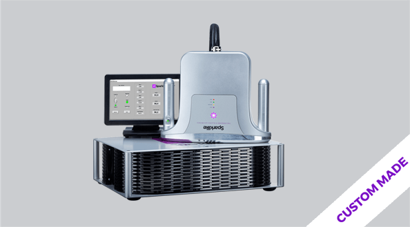 Sparklike Laser Online Gasglass device non-destructive insulating gas argon analysis for double and triple glazed insulating glass units with coatings and lamination
