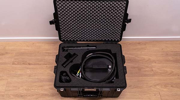 transport case for measuring head and touch screen